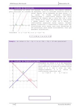 4.13. Condição de Paralelismo. Analisando as retas com equação