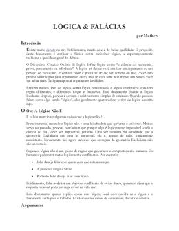 LÓGICA & FALÁCIAS - Livraria Martins Fontes