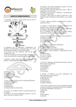 Plantão 17 - Anexos embrionários