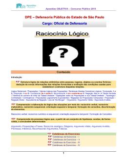 Raciocínio Lógico - Apostilas Para Concursos Públicos