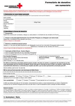 formulário de donativo CVP