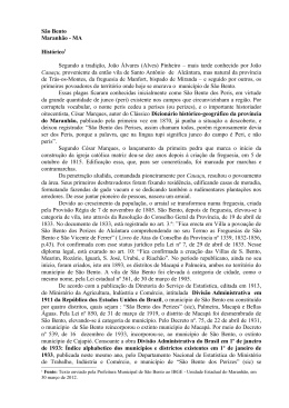 São Bento Maranhão - MA Histórico1 Segundo a