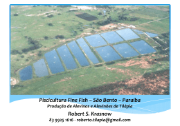 Piscicultura Fine Fish – São Bento – Paraíba Robert S. Krasnow