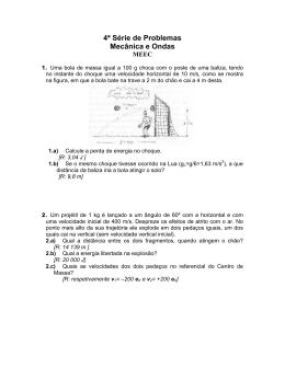4ª Série de Problemas Mecânica e Ondas