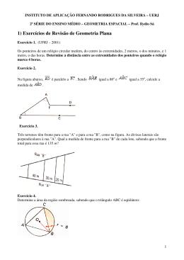 1) Exercícios de Revisão de Geometria Plana