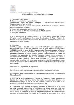 Decisão, Relatório e Voto. - Tribunal de Contas do Estado do