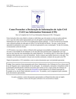 Como preencher a declaração de informações de ação civil (CIS