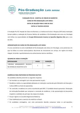 FUNDAÇÃO PIO XII - HOSPITAL DECÂNCER DE BARRETOS