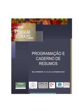 Caderno de resumos SEMINÁRIO EDUCAÇAO