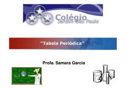 "LOGO ""Tabela Periódica"" Profa. Samara Garcia"