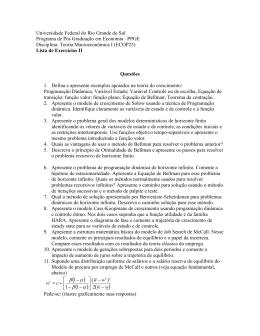 Lista de exercícios 2 - Programa de Pós
