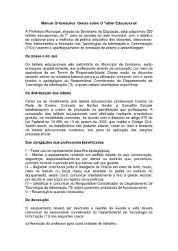 Manual Orientações Gerais sobre O Tablet Educacional A Prefeitura