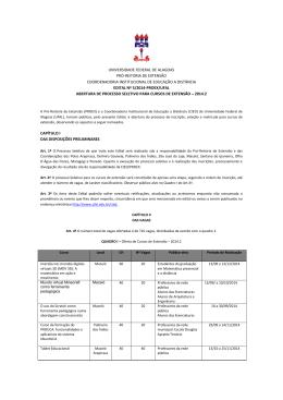 confira edital - Universidade Federal de Alagoas