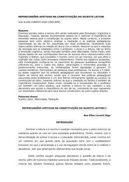 REPERCUSSÕES AFETIVAS NA CONSTITUIÇÃO DO SUJEITO