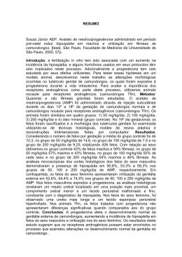 RESUMO Souza Júnior AEP. Acetato de medroxiprogesterona