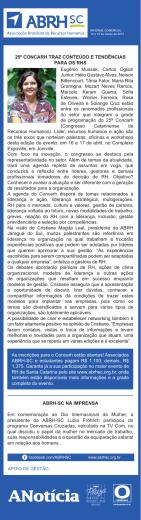 Coluna publicada no jornal A Notícia - ABRH-SC