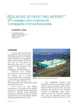 meeting report - Instituto Internacional de Cromatografia