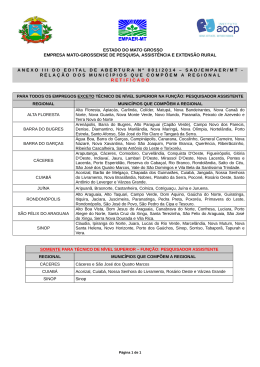 Anexo III do Edital de Abertura nº 001/2014 - SAD