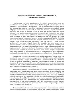 Reflexões sobre aspectos éticos e o comportamento do estudante