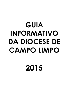 GUIA INFORMATIVO DA DIOCESE DE CAMPO LIMPO