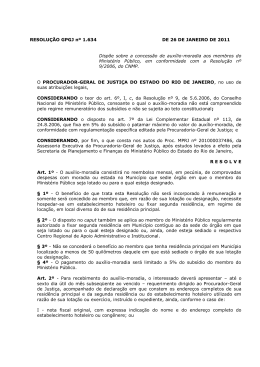 Resolução GPGJ nº 1.634, de 26 de Janeiro de 2011