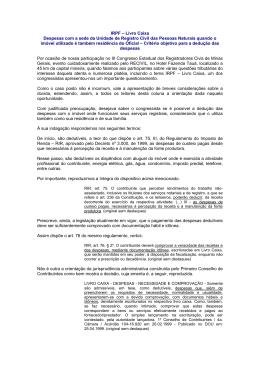 IRPF – Livro Caixa Despesas com a sede da Unidade de