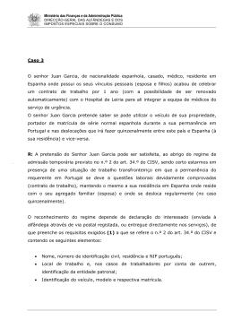 Caso 3 O senhor Juan Garcia, de nacionalidade espanhola, casado