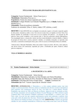 TÍTULO DO TRABALHO (EM MAIÚSCULAS) Categoria: Ensino