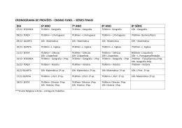 cronograma de provões – ensino fund. – séries finais dia 6º ano 7º