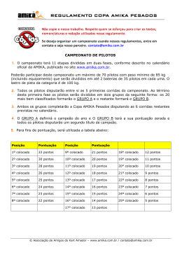 Regulamento Copa AMIKA Pesados