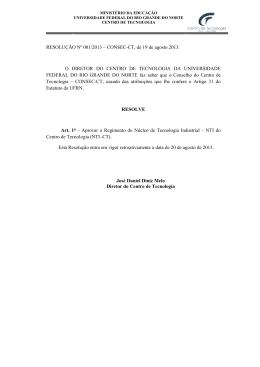 Clique aqui para acessar o documento - Centro de Tecnologia