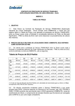 Tabela de Preços de EILD Padrão