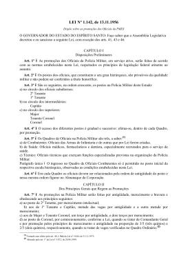LEI Nº 1.142, de 13.11.1956 - Polícia Militar do Estado do Espírito