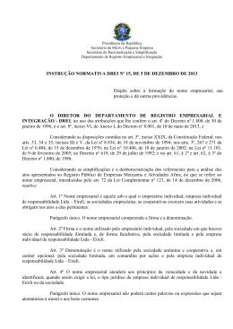 instrução normativa nº 104, 30 de abril de 2007 - Drei