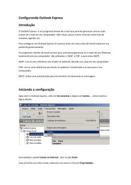 Configuração de email