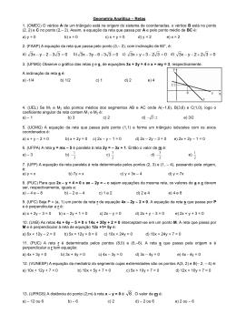 Geometria Analítica – Retas
