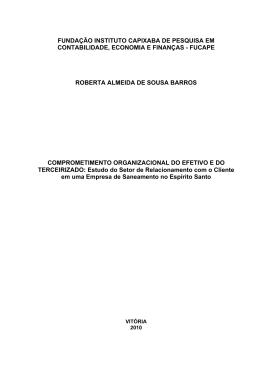 BARROS, Roberta Almeida de Sousa. Comprometimento