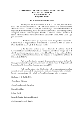 CENTRAIS ELÉTRICAS MATOGROSSENSES S.A.