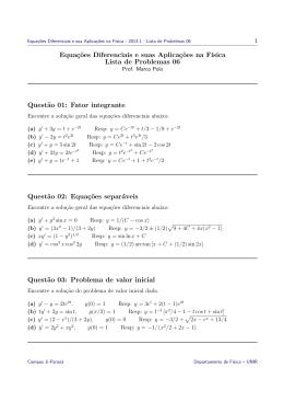 Equações Diferenciais - Lista 06