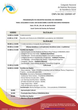 programação xvi-encontro nacional do congemas