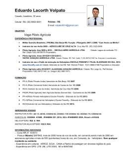 Curriculo Eduardo Volpato 2015 Documento PDF. Tamanho