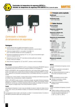 Controlador e limitador de temperatura de segurança
