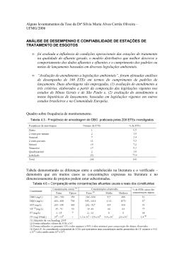 Alguns levantamentos da Tese da Drª Sílvia Maria Alves Corrêa