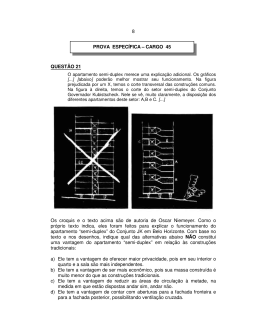 8 QUESTÃO 21 Os croquis e o texto acima são de