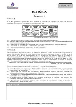 PRÉ-ENEM HISTÓRIA - Colégio Integração Minas