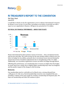 RI Treasurer`s Report to the Convention - June
