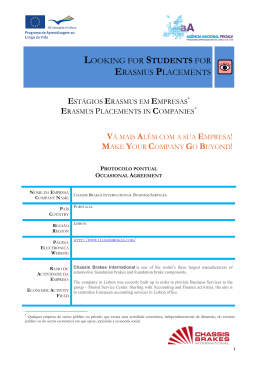 looking for students for erasmus placements