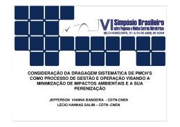 Ribeirão da Onça (03/10/00) - Comitê Brasileiro de Barragens