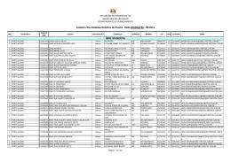 Cadastro MUNICIPAL 2011 - Secretaria de Educação do Estado do