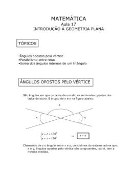 Aula 17 - Geometria Plana I